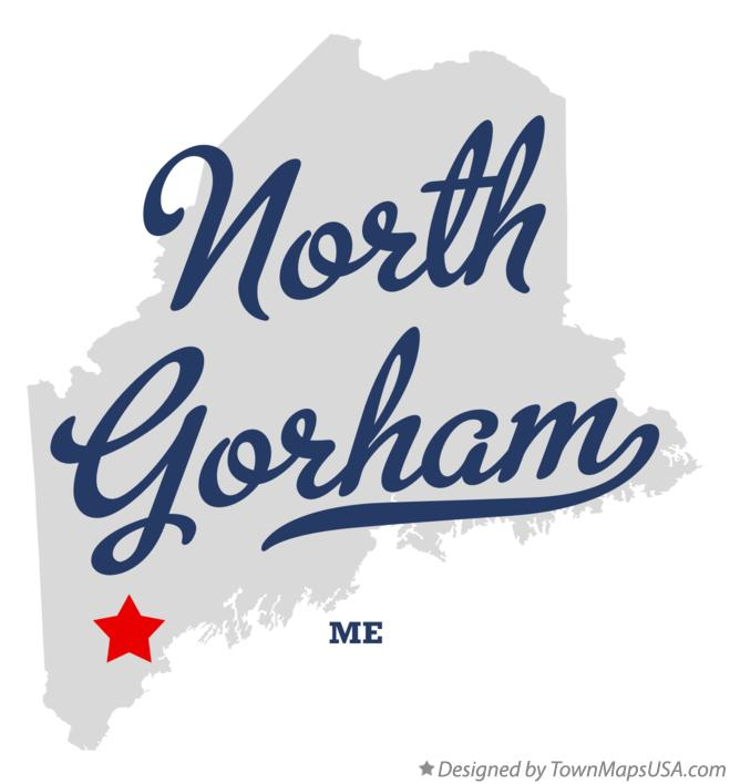 Map of North Gorham Maine ME