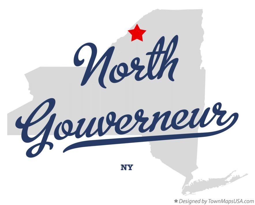 Map of North Gouverneur New York NY