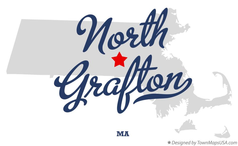 Map of North Grafton Massachusetts MA