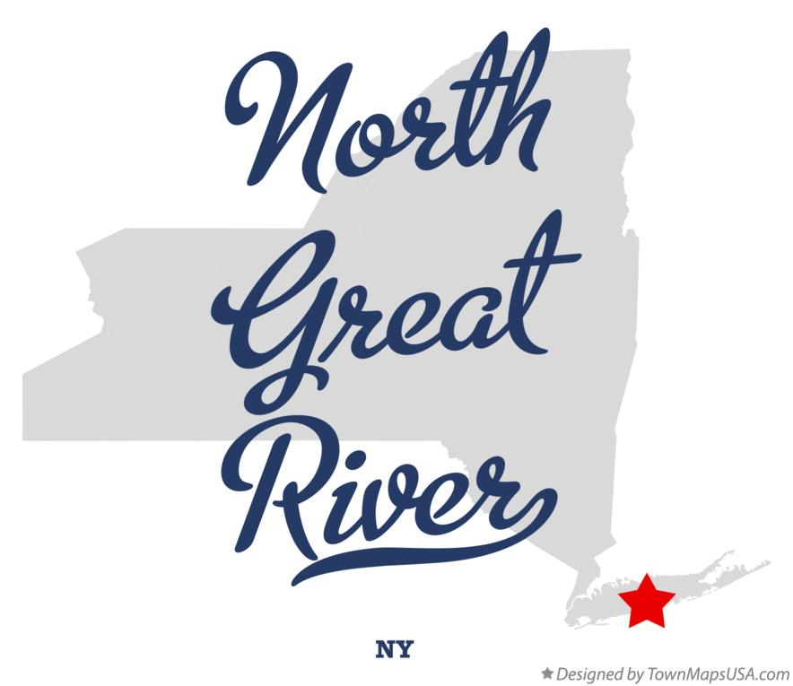 Map of North Great River New York NY