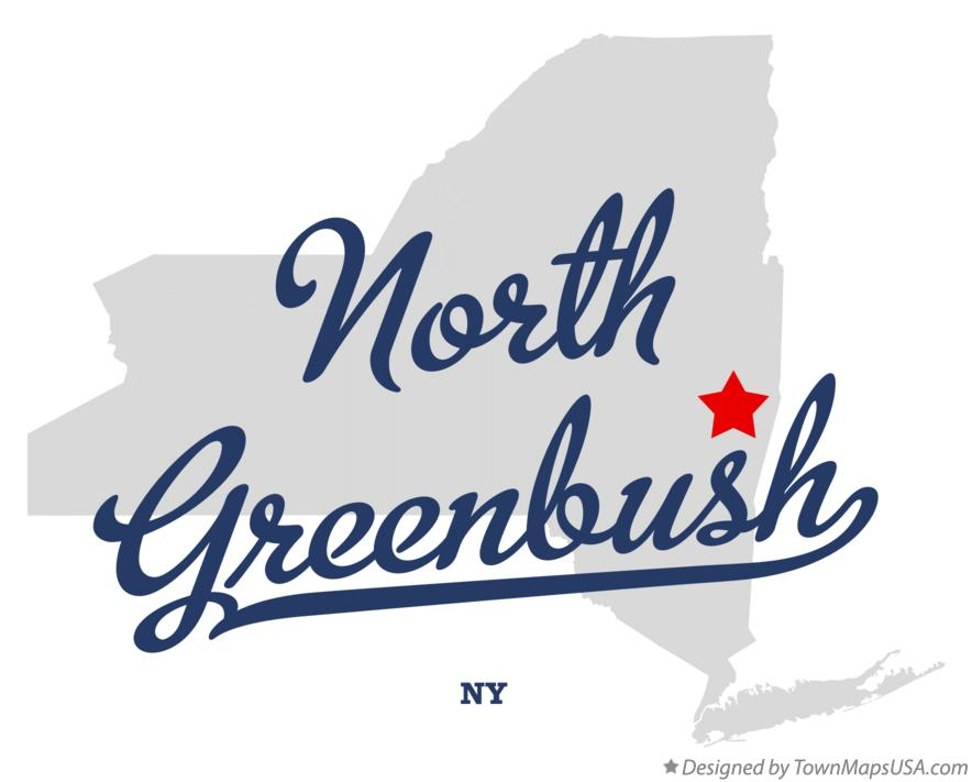 Map of North Greenbush New York NY