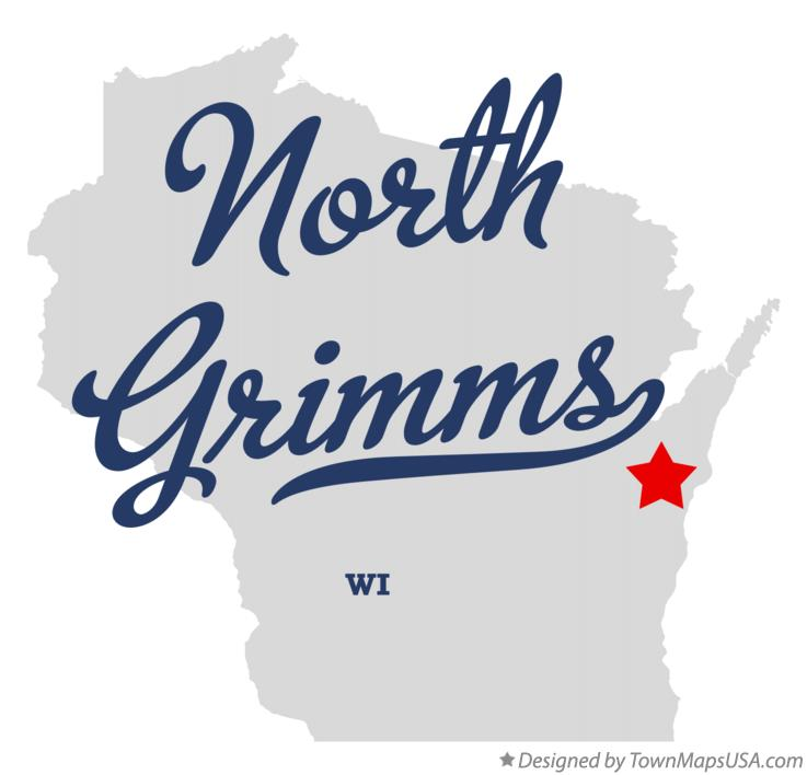 Map of North Grimms Wisconsin WI