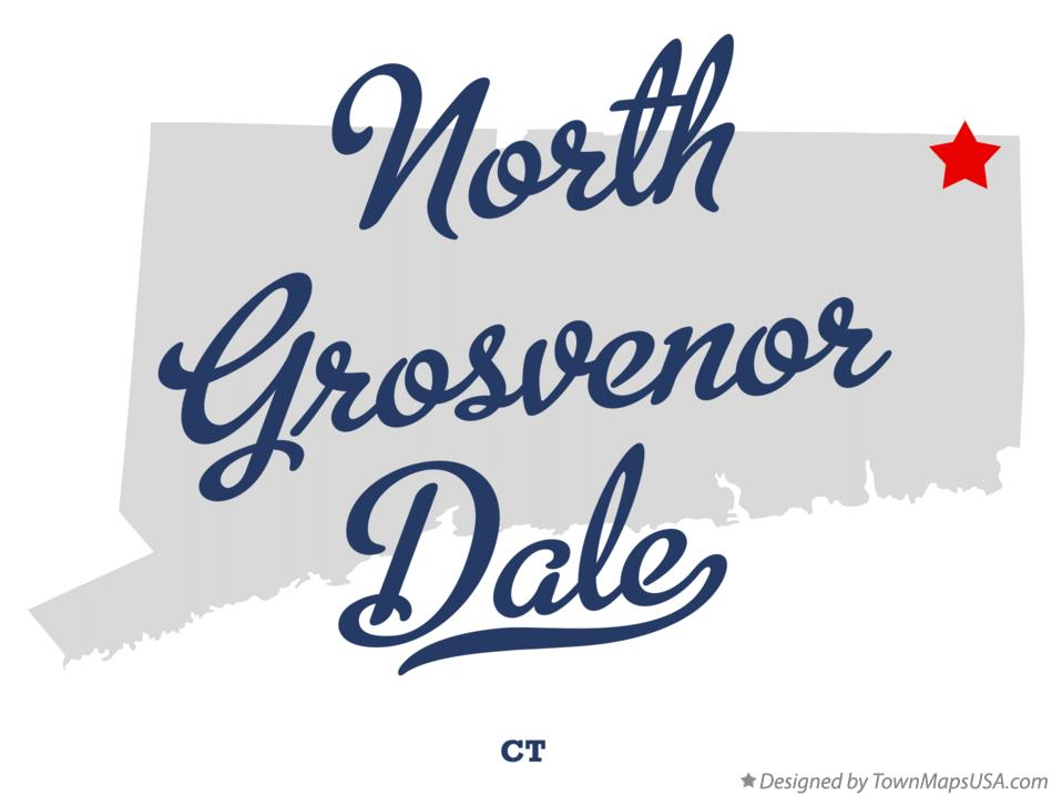 Map of North Grosvenor Dale Connecticut CT