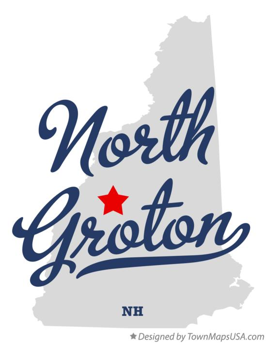 Map of North Groton New Hampshire NH