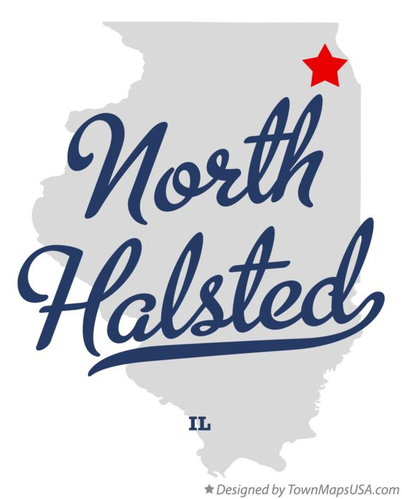 Map of North Halsted Illinois IL