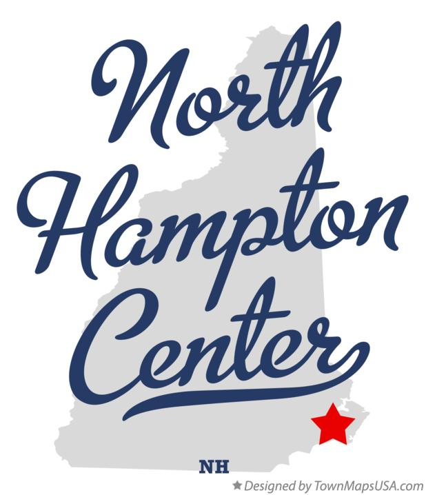 Map of North Hampton Center New Hampshire NH