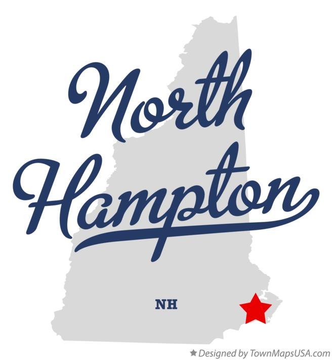 Map of North Hampton New Hampshire NH