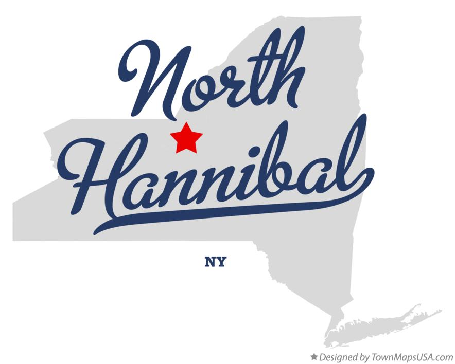 Map of North Hannibal New York NY