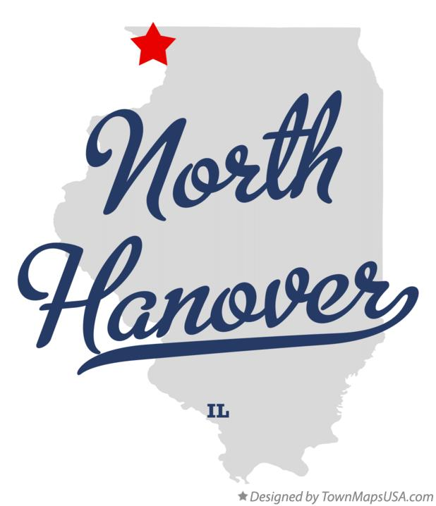 Map of North Hanover Illinois IL