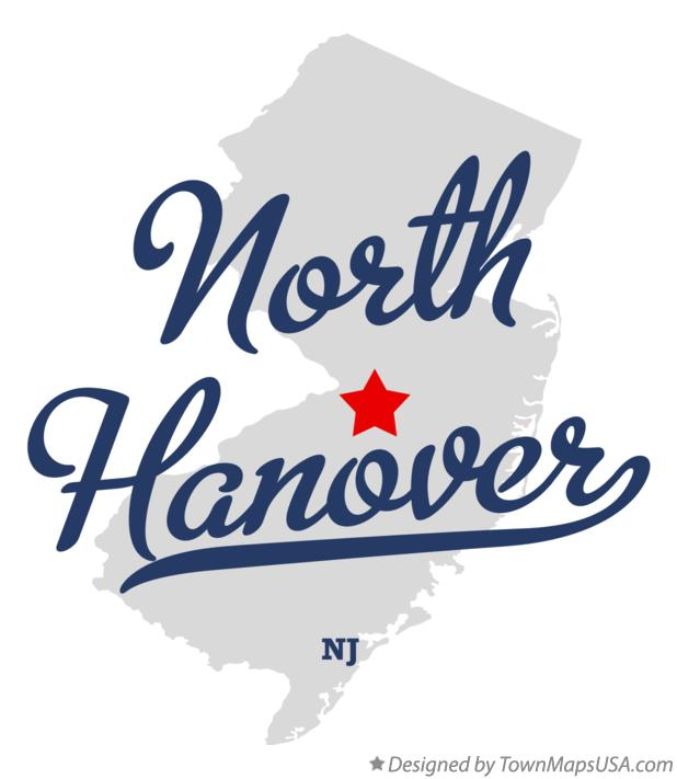 Map of North Hanover New Jersey NJ