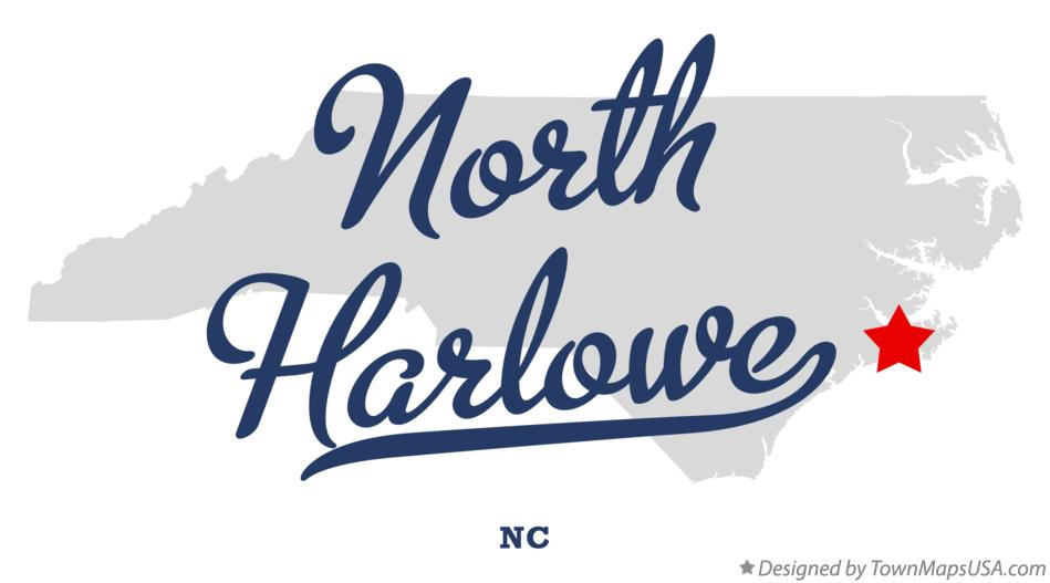 Map of North Harlowe North Carolina NC