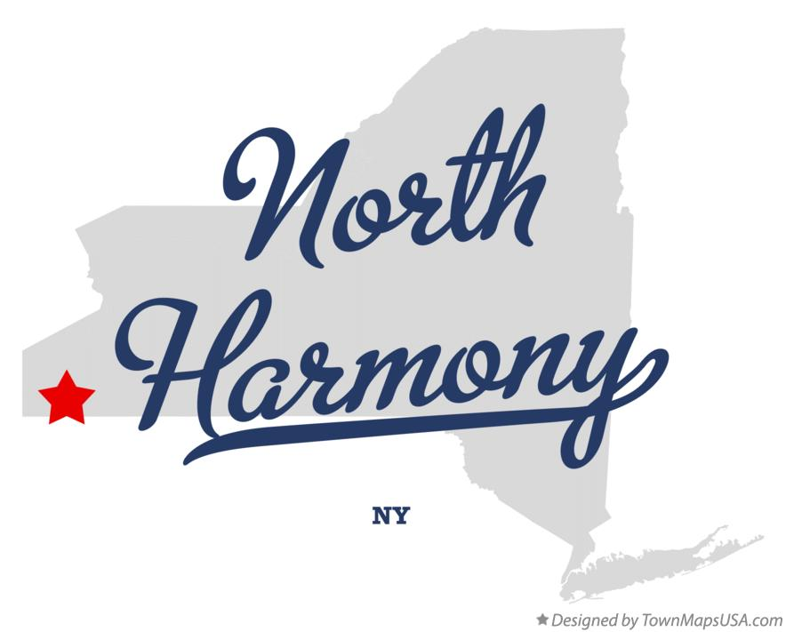 Map of North Harmony New York NY