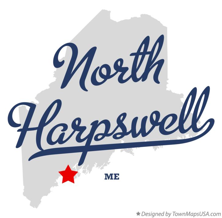 Map of North Harpswell Maine ME