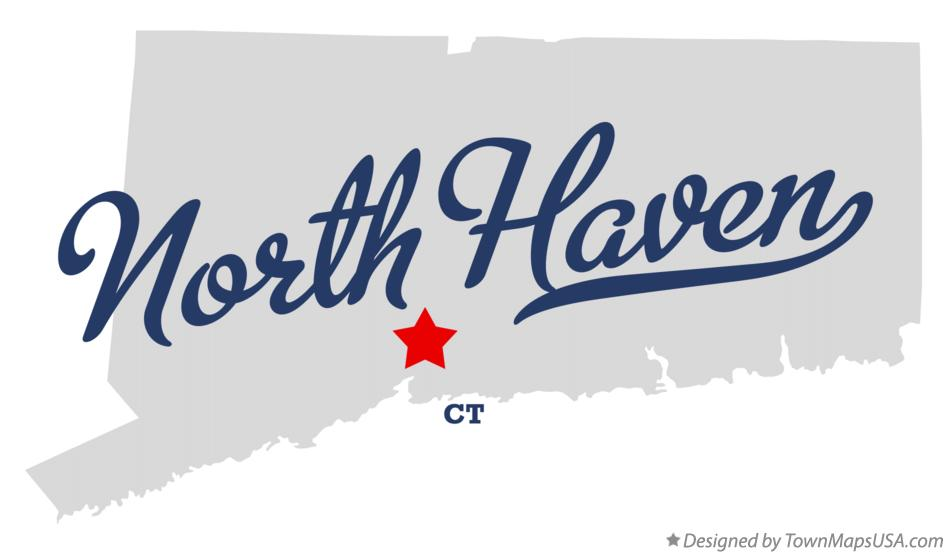 Map of North Haven Connecticut CT