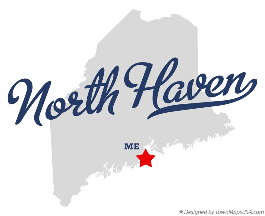 Map of North Haven Maine ME