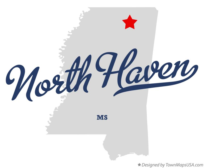 Map of North Haven Mississippi MS