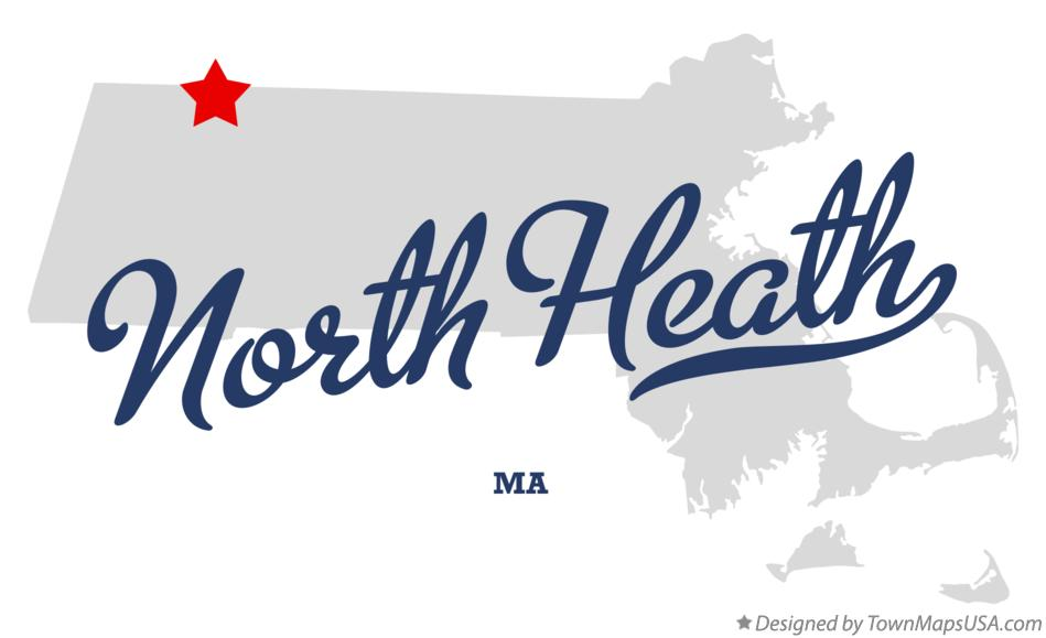 Map of North Heath Massachusetts MA