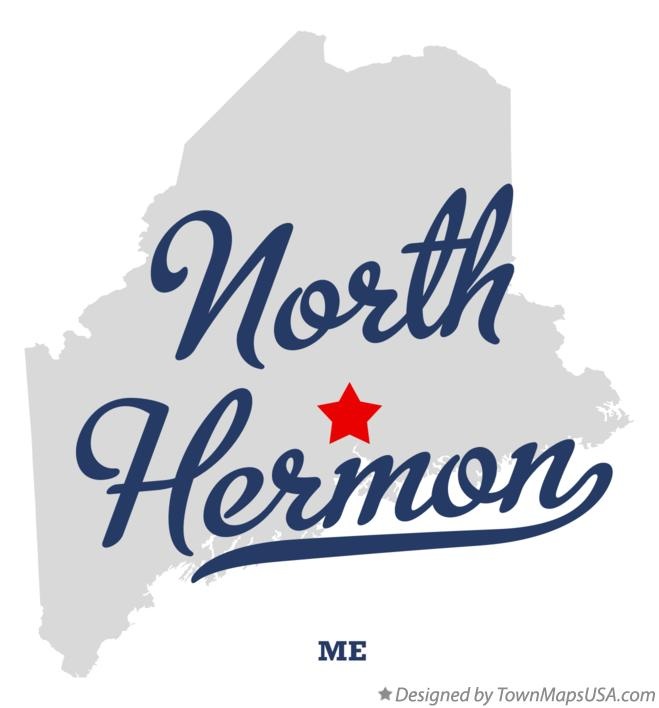 Map of North Hermon Maine ME