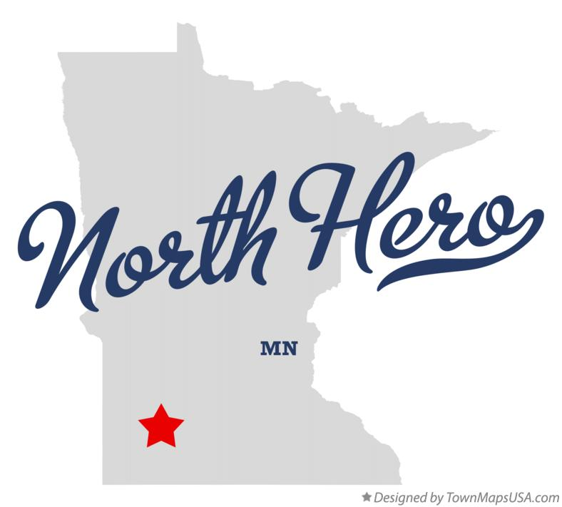 Map of North Hero Minnesota MN