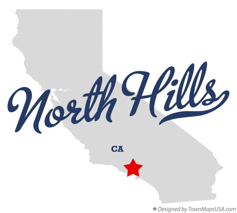 Map of North Hills California CA