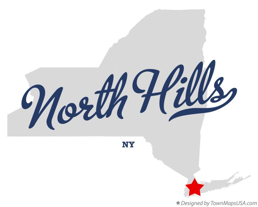 Map of North Hills New York NY
