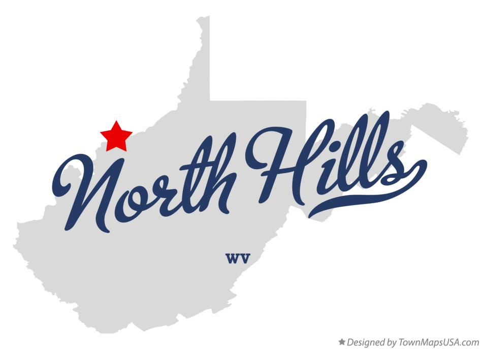 Map of North Hills West Virginia WV