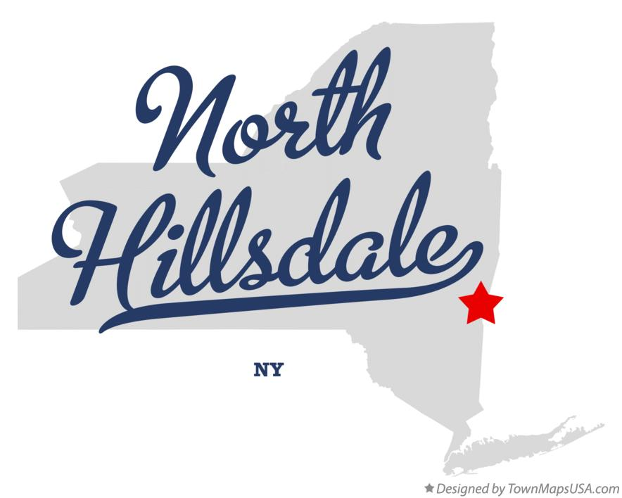 Map of North Hillsdale New York NY