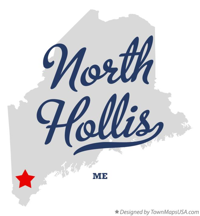 Map of North Hollis Maine ME