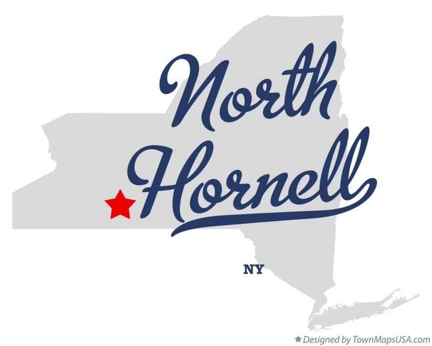 Map of North Hornell New York NY