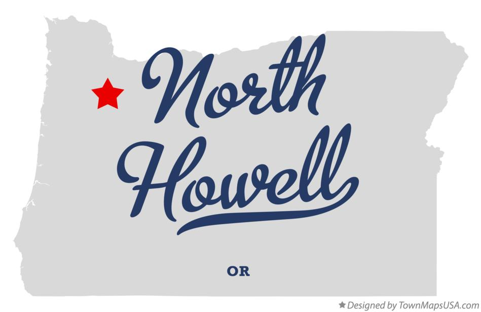Map of North Howell Oregon OR