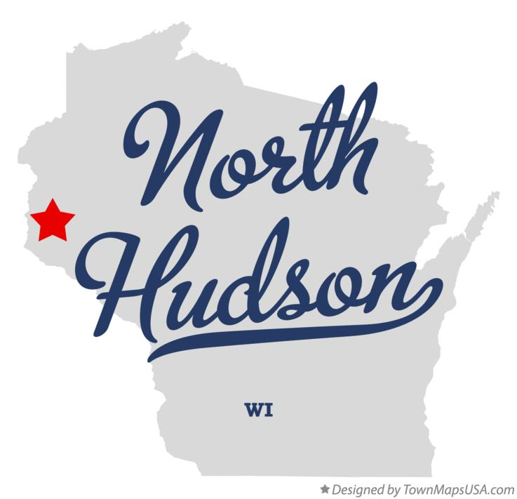 Map of North Hudson Wisconsin WI