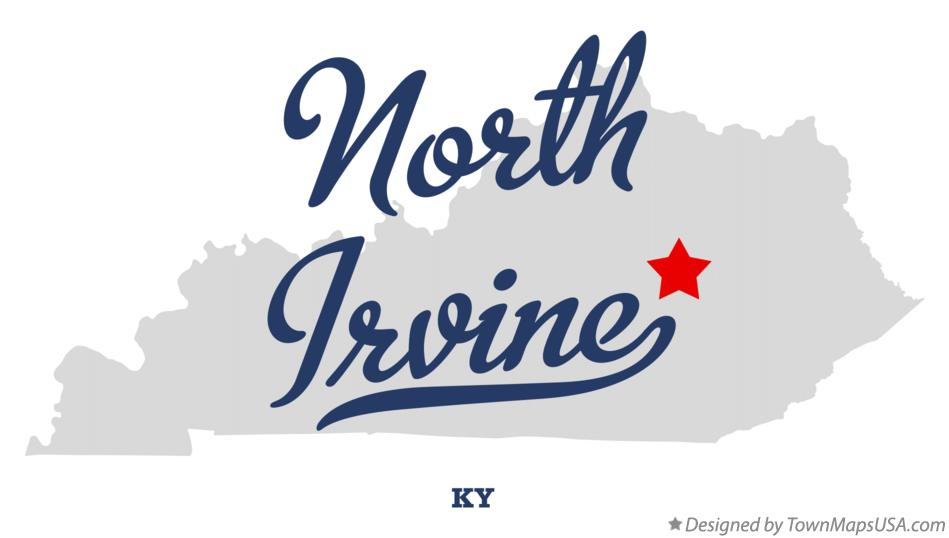 Map of North Irvine Kentucky KY