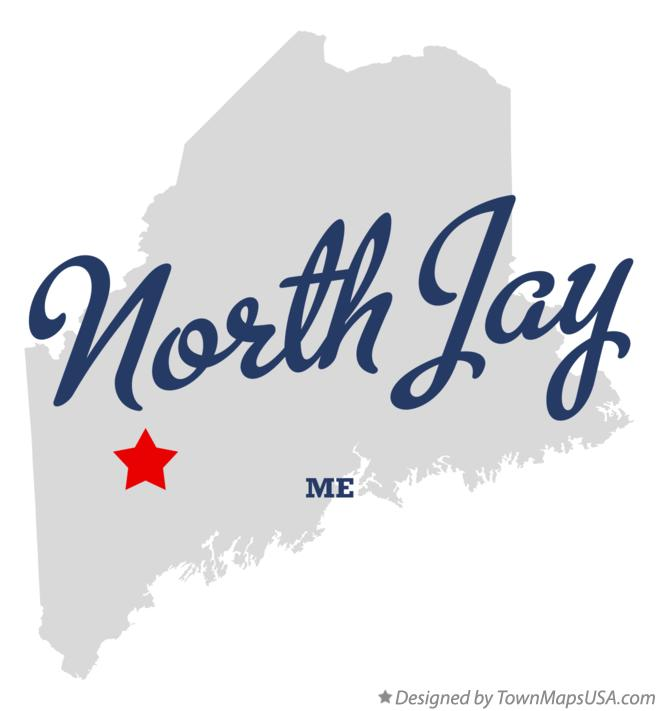 Map Of North Jay Me Maine