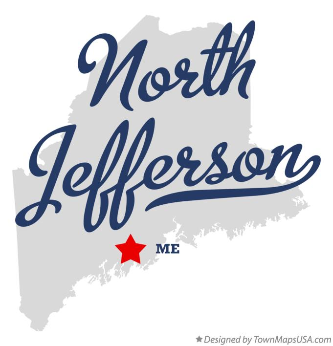 Map of North Jefferson Maine ME