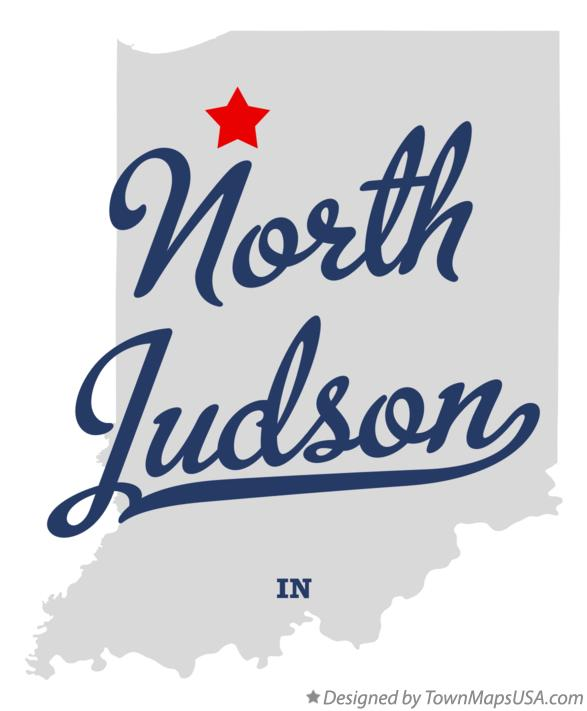 Map of North Judson Indiana IN
