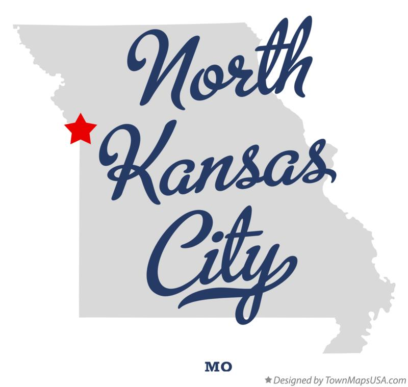 a map of kansas city. Map of North Kansas City