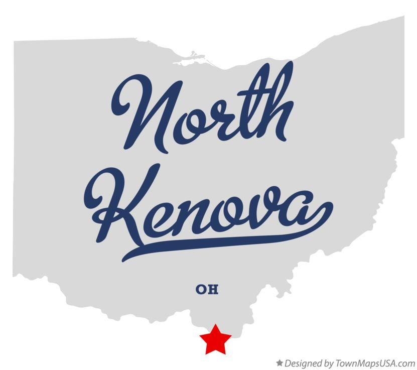 Map of North Kenova Ohio OH