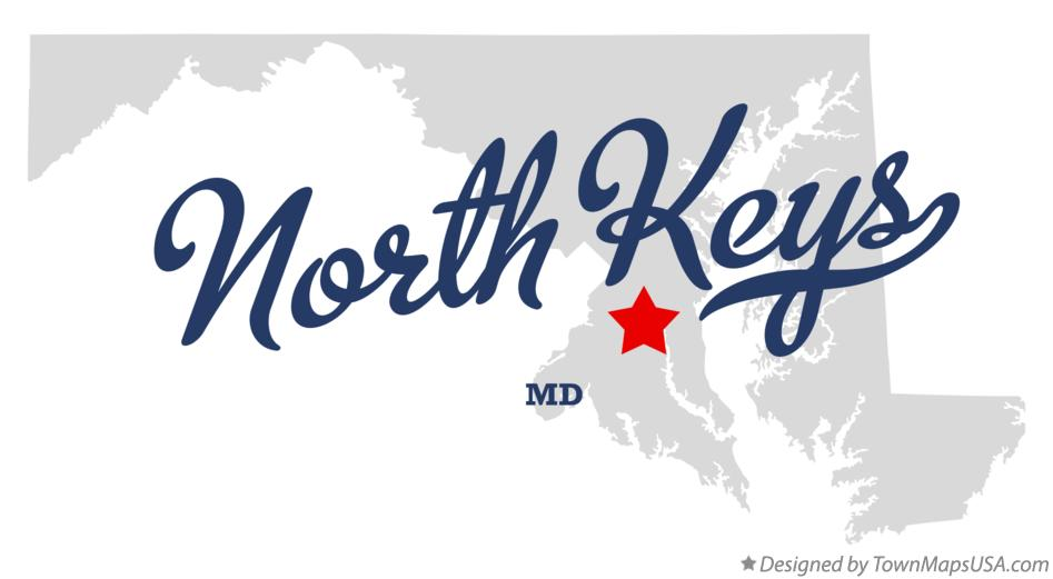 Map of North Keys Maryland MD