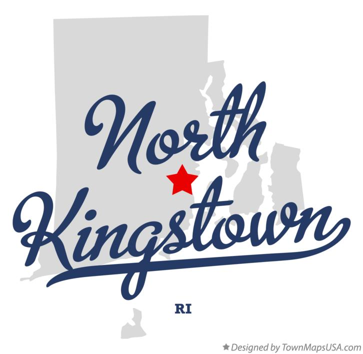 Map of North Kingstown Rhode Island RI