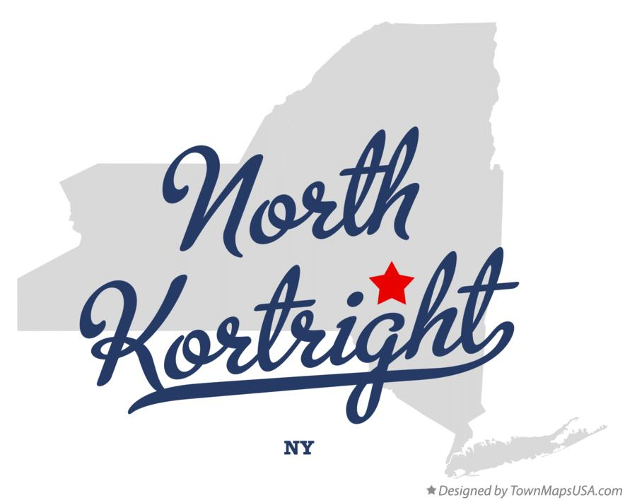 Map of North Kortright New York NY
