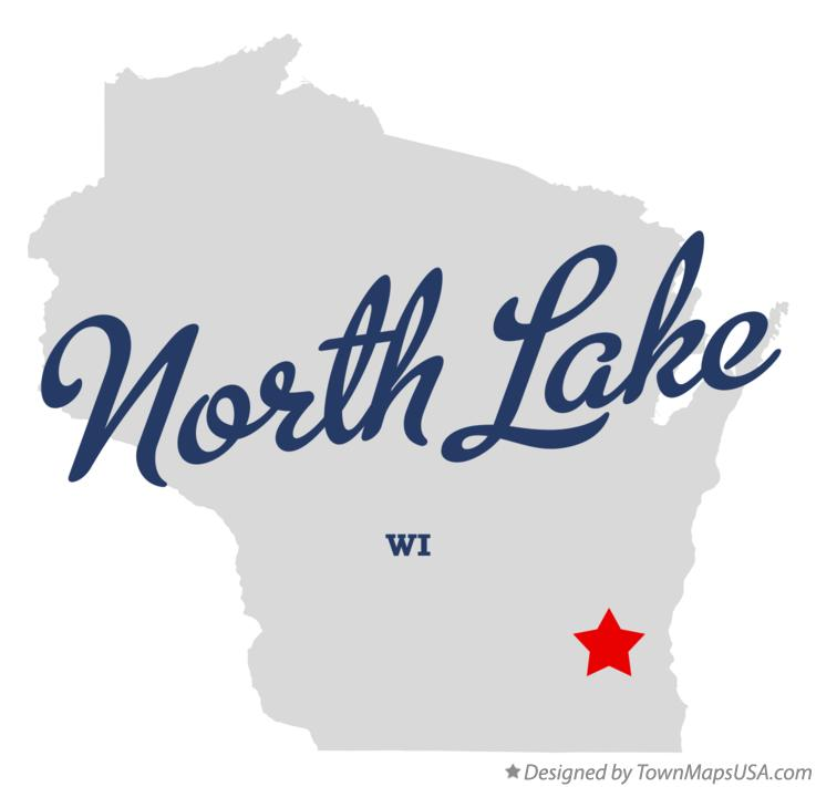 Map of North Lake Wisconsin WI
