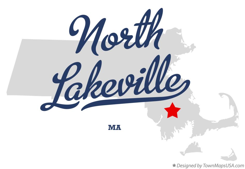 Map of North Lakeville Massachusetts MA