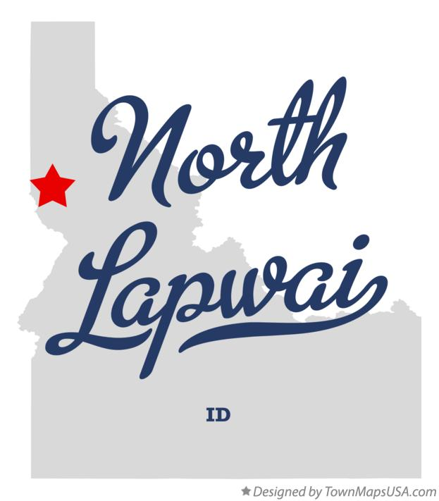 Map of North Lapwai Idaho ID