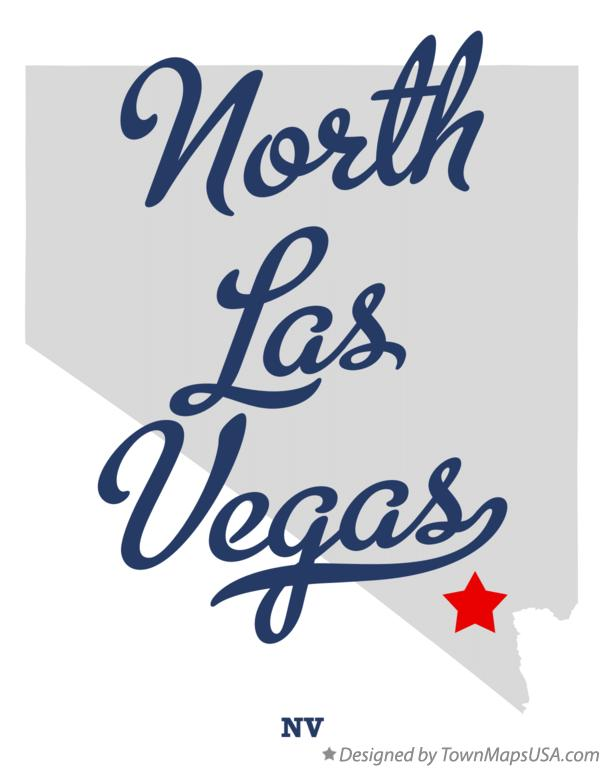 Map of North Las Vegas Nevada NV