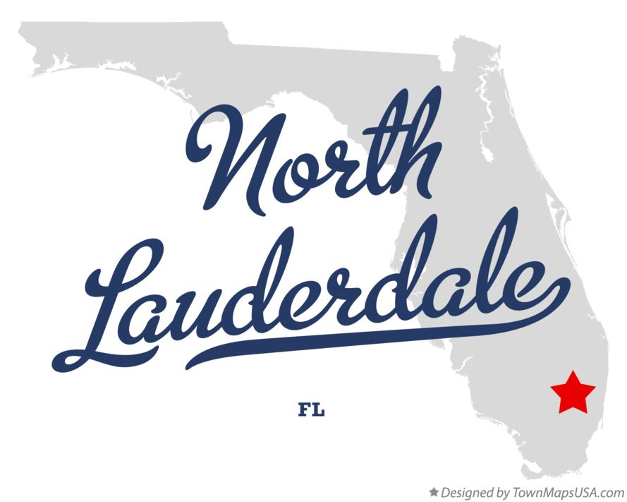 Map of North Lauderdale Florida FL