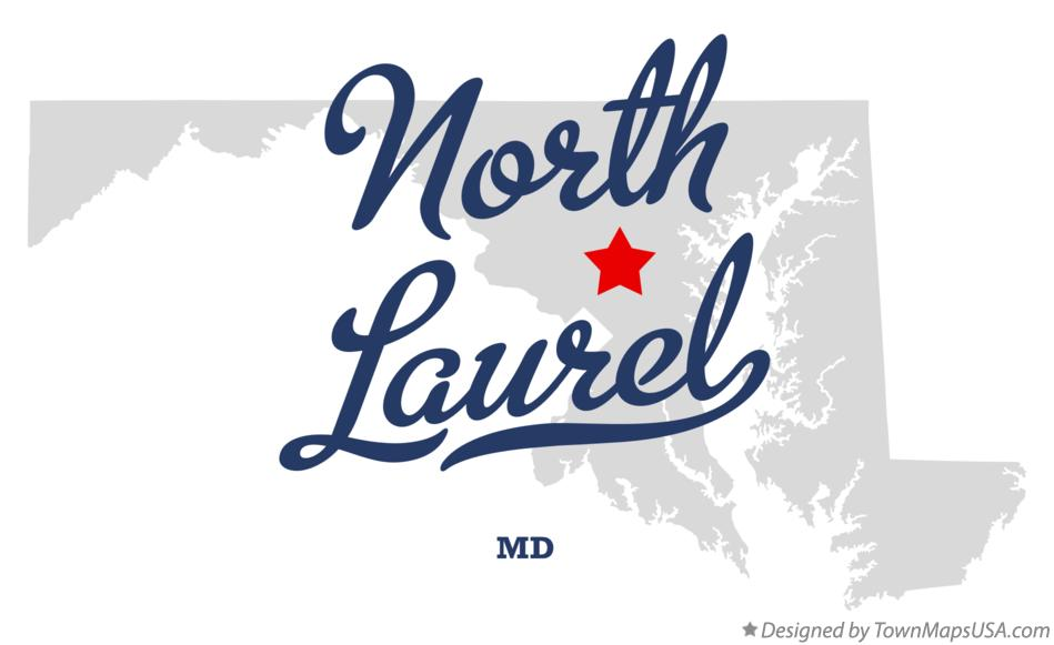 Map of North Laurel Maryland MD