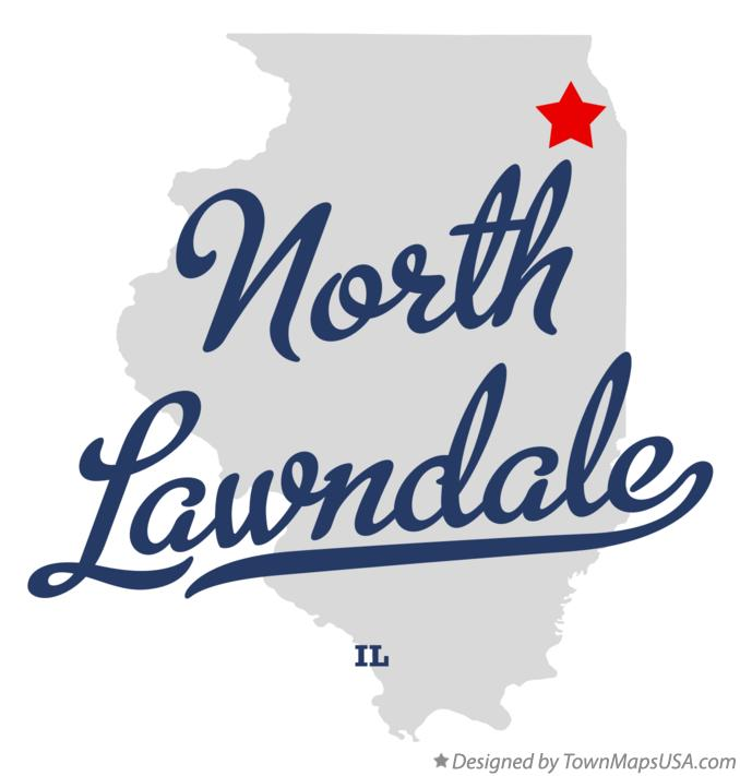 Map of North Lawndale Illinois IL