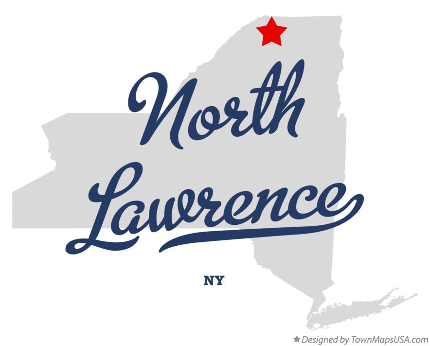 Map of North Lawrence New York NY