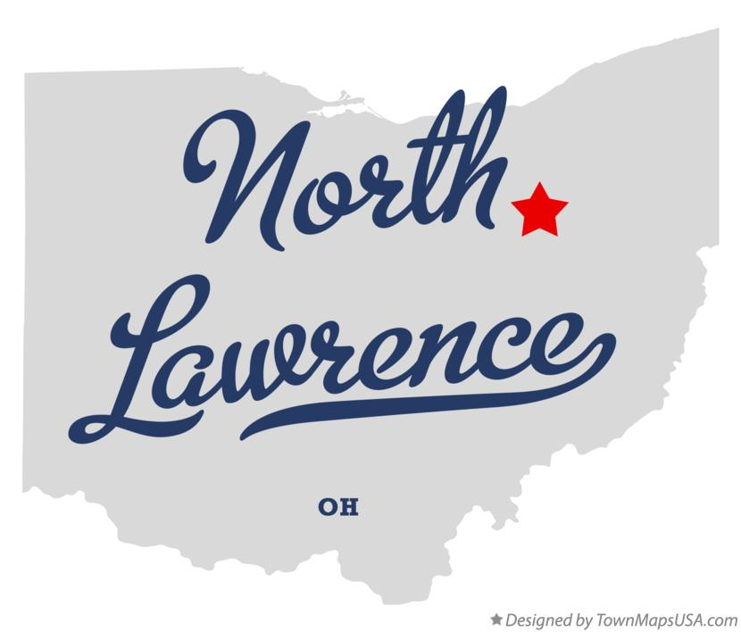 Map of North Lawrence Ohio OH