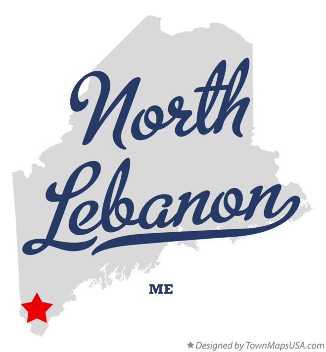 Map of North Lebanon Maine ME